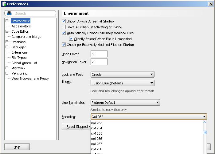 Unicode: Unicode and SQL Developer (Windows)